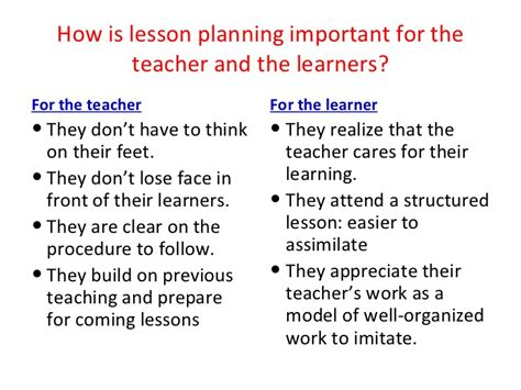5 Important Lessons To Think About by Lesson Plan