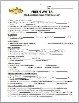 Planet Earth Freshwater Worksheet by Planet Earth Worksheet Resultinfos