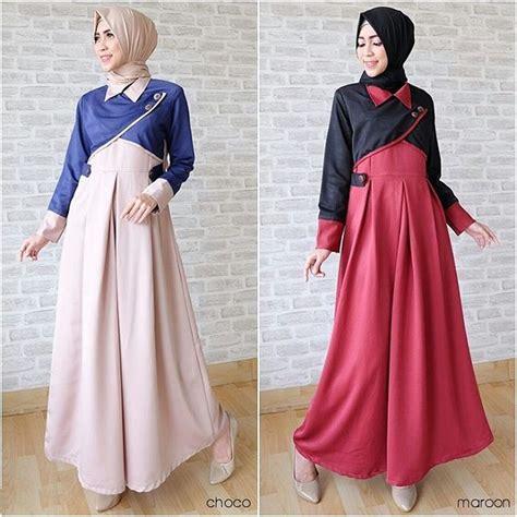 desain gaun tercantik 18 model baju muslim terbaru 2018 desain simple casual
