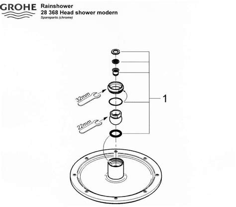 Grohe Showers Spare Parts by Grohe Rainshower Shower Modern 28 368 Shower Spares