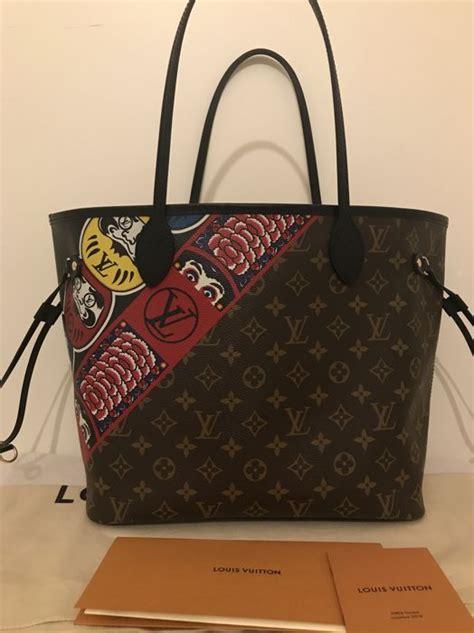 Tas Wanita Cantik Fashion Louis Vuitton Lv Neverfull louis vuitton neverfull mm kabuki limited edition shopper bag catawiki