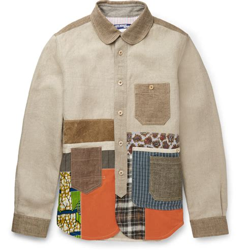 Quisha Jaket Canvas Linen Rubiah lyst junya watanabe patchwork linen canvas jacket in brown for