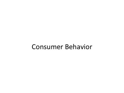 Consumer Behaviour Notes For Mba by Consumer Behavior Notes