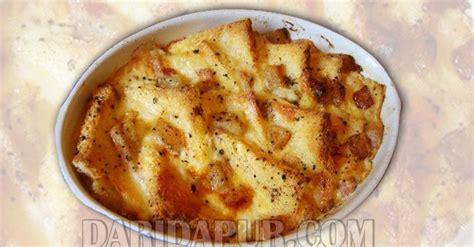 cara membuat roti bakar dengan gambar puding roti karamel mudah tetapi sangat sedap daridapur com