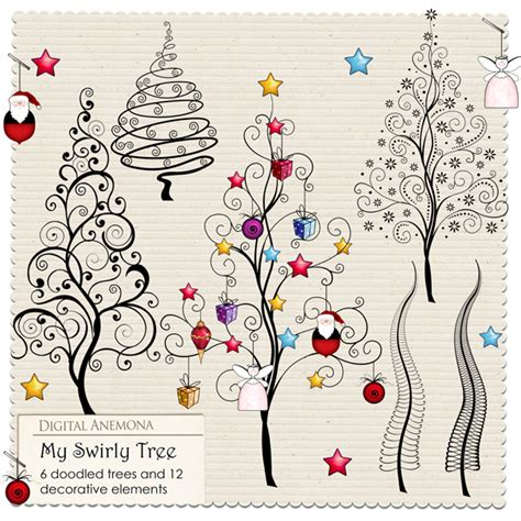free doodle ideas digital anemona freebie