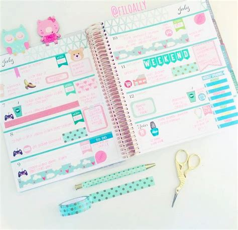 planner layout horizontal ec layout by filoally lifestyle life