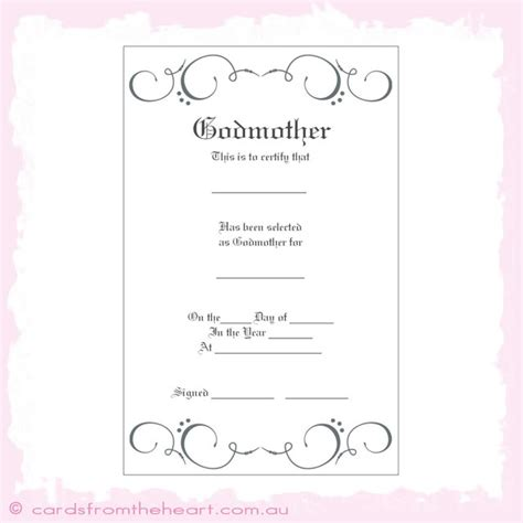 godparent certificate template personalised candle baptism christening naming day set boy