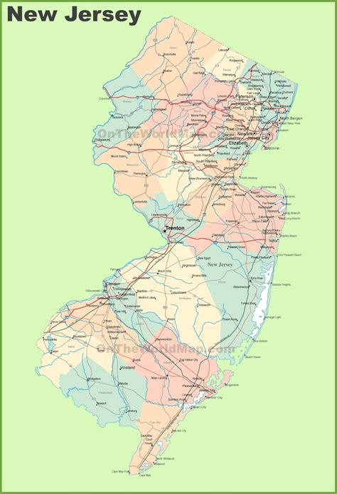 new map usa map of new jersey state map of usa