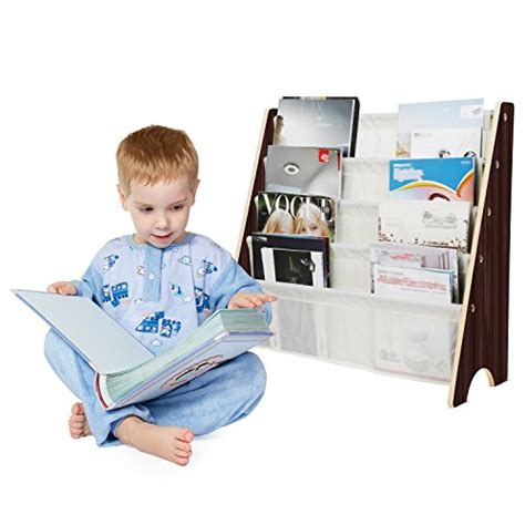 homfa book rack storage sling bookshelf display