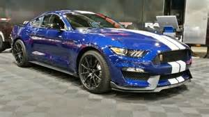 mustang blue and white 2016 mustang gt350 impact blue white w black racing