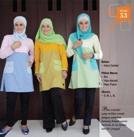 Harga Baju Muslim Merk Qirani by Qi 053 Blouse Muslimah Modern Merk Qirani Harga Rp