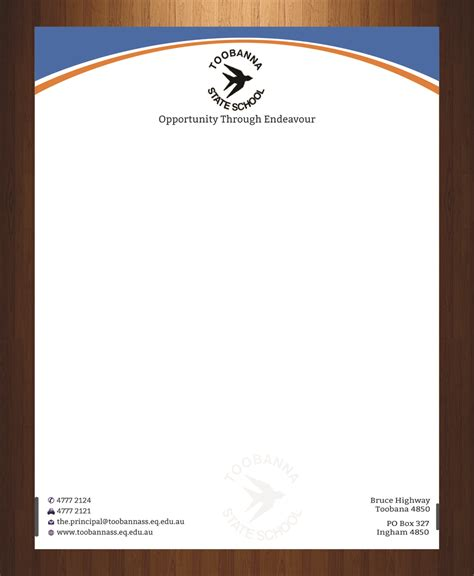 design for header and footer modern feminine letterhead design for toobanna state