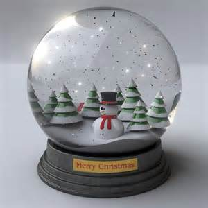 snowglobe animated 3d model animated max obj 3ds fbx