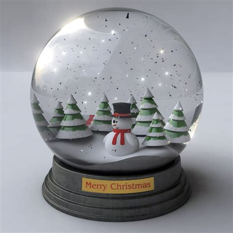 snow globe snowglobe animated 3d model animated max obj 3ds fbx
