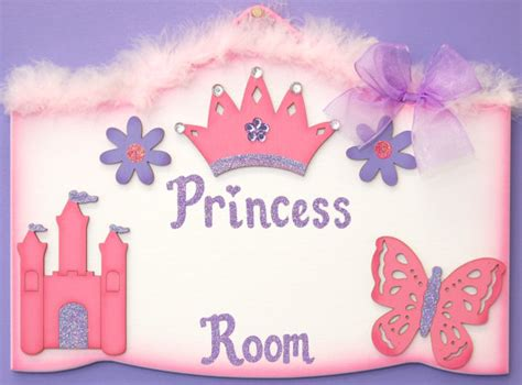 personalized girls room sign princess sign