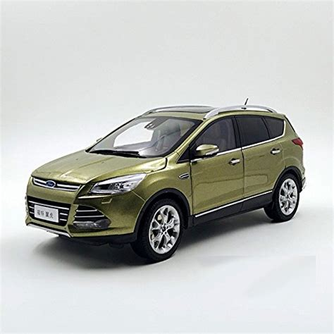 Ford Kuga 2015 Suv Model In Scale 1 18 White 1 brown 1 18 ford kuga escape 2015 suv diecast model car alloy car miniatures sedan collection