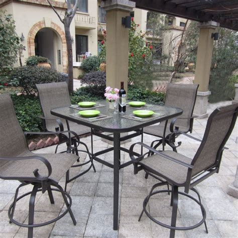 Outdoor Patio Furniture Bar Sets Bar Height Patio Furniture Sets