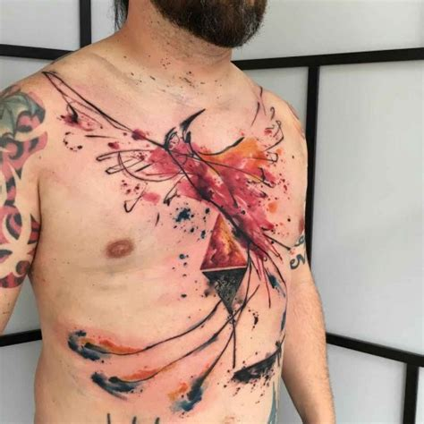 phoenix chest tattoo chest best ideas gallery