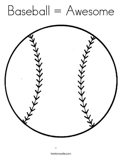 coloring page baseball baseball awesome coloring page twisty noodle