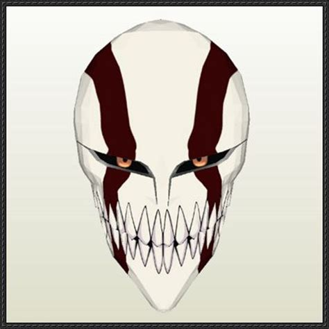 Ichigo Hollow Mask Papercraft - ichigo hollow mask ver 2 free papercraft