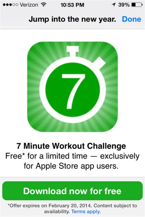 apple new year apple store app starts the new year by giving away fitness