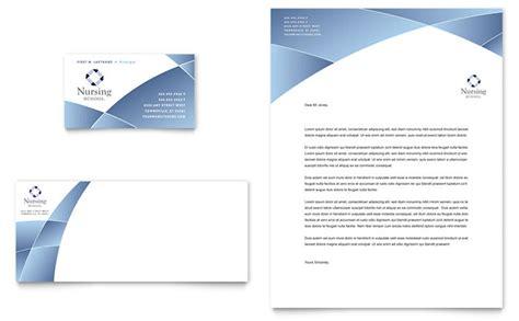 Official Apple Letterhead Nursing School Hospital Business Card Letterhead Template Design