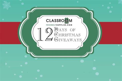 Giveaways For Teachers - 12 days giveaways for teachers