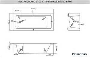 rectangularo 4 1700mm x 750mm bath