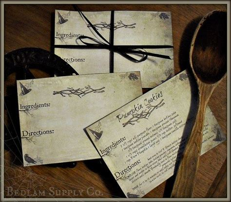 Kitchen Witch Recipes by The Kitchen Witch Set Of 15 Recipe Cards