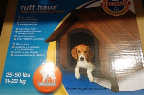 costco dog house wood costco petmate aspen pet ruff hauz wood doghouse frugal
