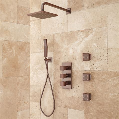 Shower System With Jets by Ryle Thermostatic Shower System With Shower And 3