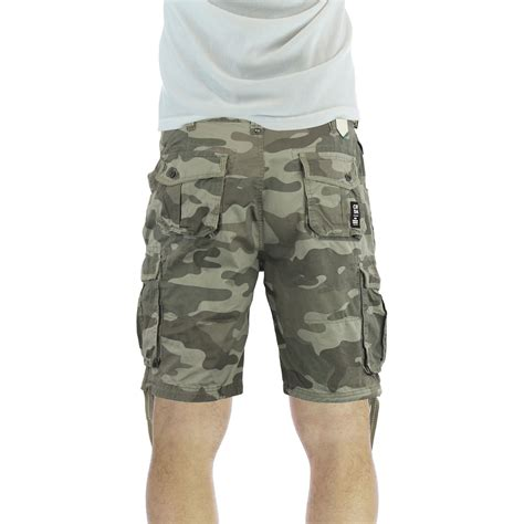 army pattern cargo shorts mens cargo shorts crosshatch crossfin camo army camouflage