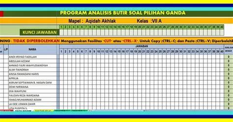 format analisis butir soal uraian aplikasi analisis butir soal terbaru versi 2017 aplikasi