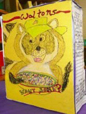 book in a box book report cereal box book report concerning cereal box book