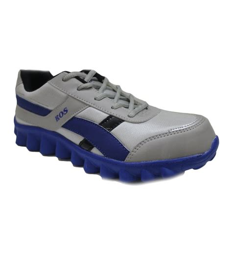 best sports shoes for best walk gray and r blue synthetic leather sport shoes