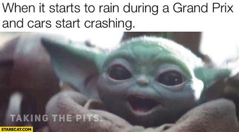 happy baby yoda   starts  rain    grand