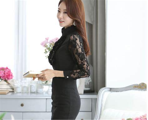 Shjt217080861342 Kemeja Hitam Baju Import baju kemeja brokat wanita cantik model terbaru jual murah import kerja