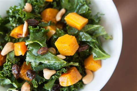 carbohydrates butternut squash roasted butternut squash kale salad by amazing paleo