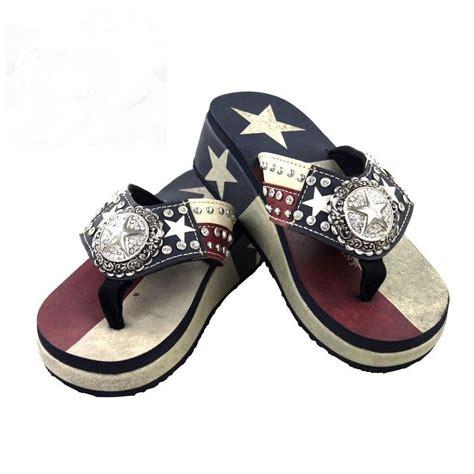 sandals usa lone usa montana west rhinestone flip flop