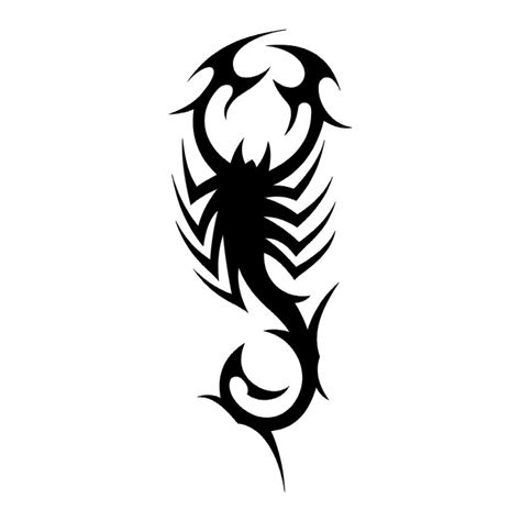 scorpion tribal tattoo tattoos scorpion stencils