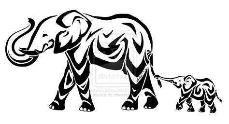 elephant tattoo clipart stylized elephants by jessica rb deviantart com on