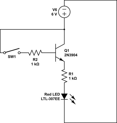 transistor y resistor led why is my transistor accepting power from a base electrical engineering stack exchange