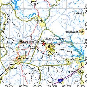 map of toccoa toccoa falls ga population data races