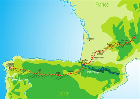 camino pilgrimage map 100 camino de santiago map best 25 camino de