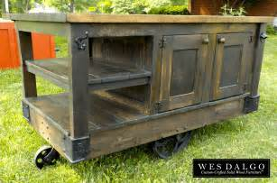 Wood Kitchen Island Cart Distressed Dark Wood Modern Rustic Kitchen Island Cart