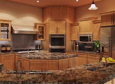Kitchen Quartz Countertops With Oak Cabinets Quartz Countertops For Oak Cabinets