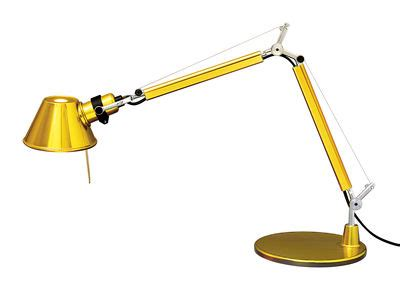 tolomeo micro table l by artemide tolomeo micro gold table l led limited issue gold