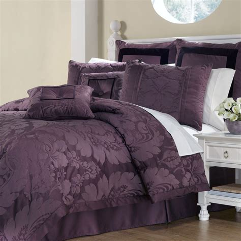 plum comforter lorenzo damask 8 pc comforter bed set