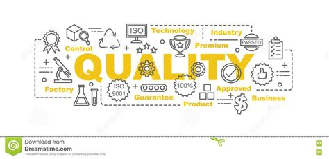 design concept quality quality control vector banner stock vector illustration