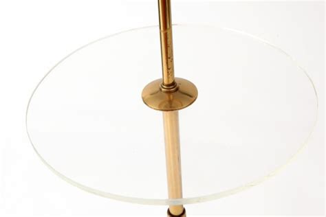 Brass & Lucite Floor Lamp by Stiffel   red modern furniture